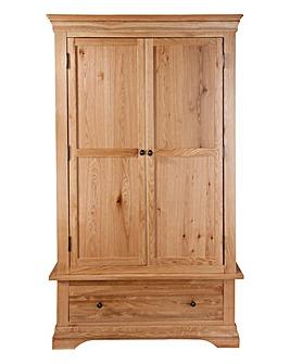 Newark Solid Oak 2 Door1 Drawer Wardrobe