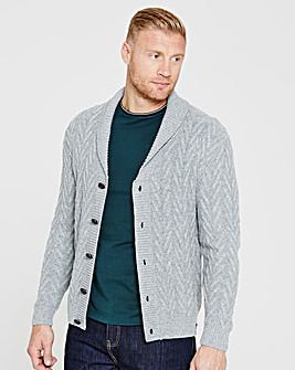 Flintoff by Jacamo Cable Cardigan