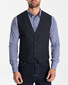 Black Label Tweed Wool Waistcoat Regular