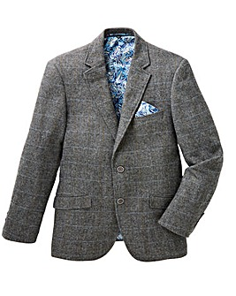 Black Label Grey Check Blazer Long