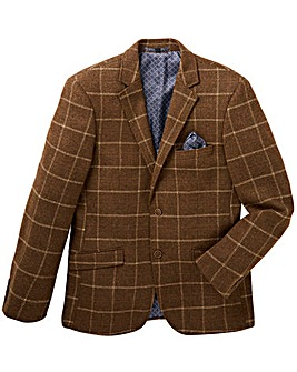 Black Label Wool Checked Blazer Regular