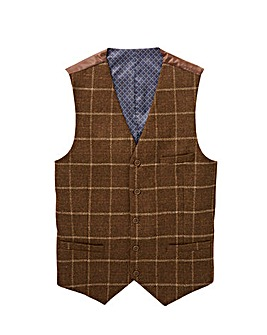 Black Label Wool Checked Waistcoat