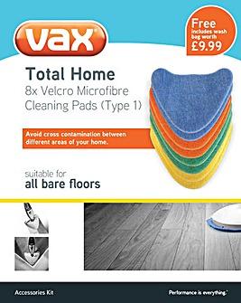 Vax Coloured Velcro Microfibre Pads x8
