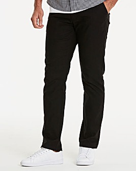 Black Label Black Linen Trousers 29in