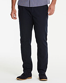 Black Label Navy Slim Trousers 33in