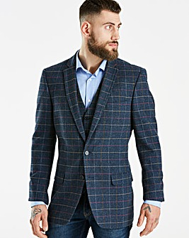 Black Label Blue Slim Checked Blazer R