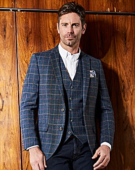 Jacamo Black Label Blue Checked Blazer L