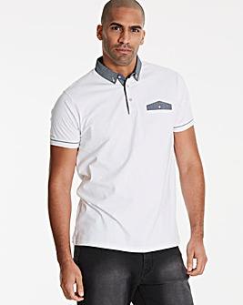 Black Label White S/S Pocket Trim Polo R