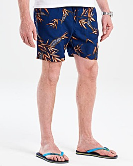 Flintoff By Jacamo Navy Swimshorts