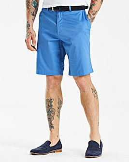 Black Label Blue Belted Slim Shorts