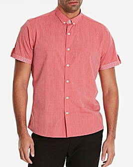 Black Label Red S/S Trim Shirt L