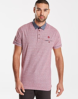 Black Label SS Stripe Trim Polo Long