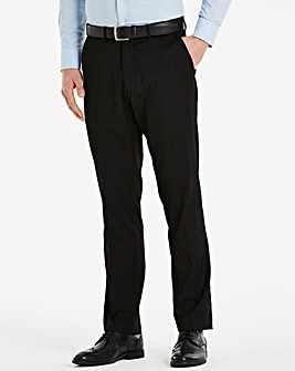 Black Label Charcoal Slim Trousers 31in