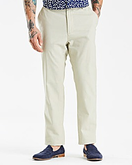 Black Label Stone Linen Trousers 31in
