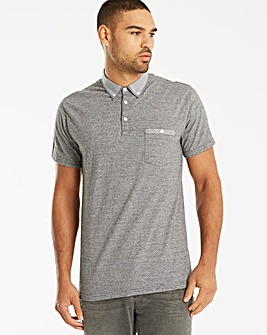 Black Label SS Jacquard Stripe Polo L