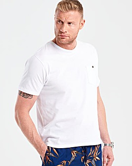 Flintoff By Jacamo White T-Shirt R