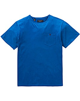 Flintoff By Jacamo Blue Pocket T-Shirt L