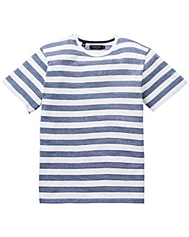 Flintoff By Jacamo Blue Stripe T-Shirt L