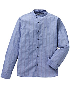 Flintoff By Jacamo Blue L/S Shirt L