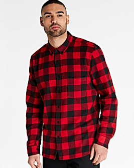 Jacamo Flannel Check Shirt Long