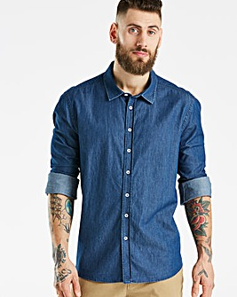 Jacamo Denim Long Sleeve Shirt Long