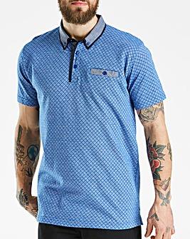 Black Label Blue Patterned Polo R