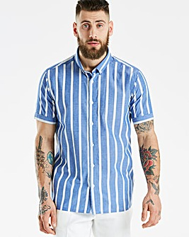Black Label Striped SS Shirt L
