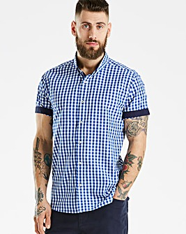 Black Label Blue Gingham S/S Shirt R