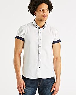 Jacamo Black Label Oxford SS Shirt L