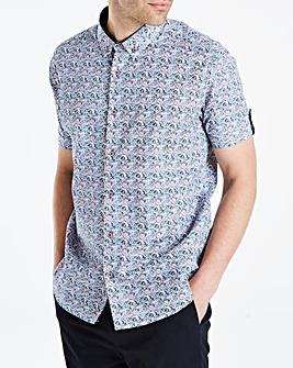Black Label floral SS Shirt L