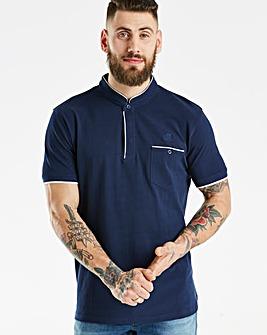 Jacamo Black Label Grandad Polo Reg