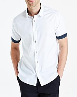Black Label White S/S Slim Shirt R