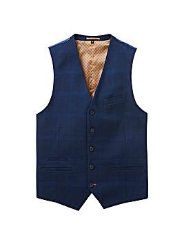Flintoff By Jacamo Blue Waistcoat R