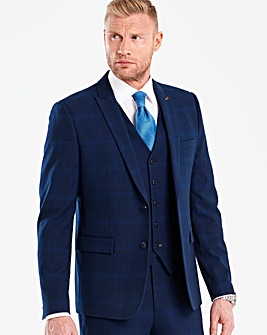 Flintoff By Jacamo Blue Slim Jacket L