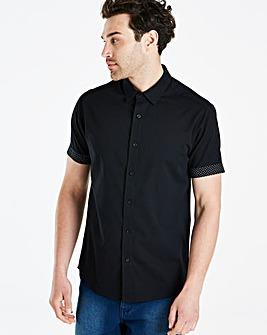 Jacamo Black Label Black S/S Shirt R