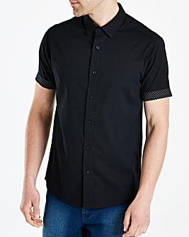 Black Label White S/S Slim Shirt L