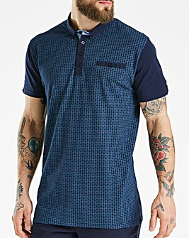Black Label Navy S/S Printed Polo L