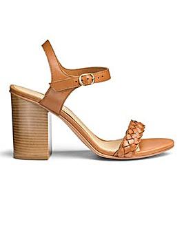Sole Diva Leather Block Heel Sandal EFit