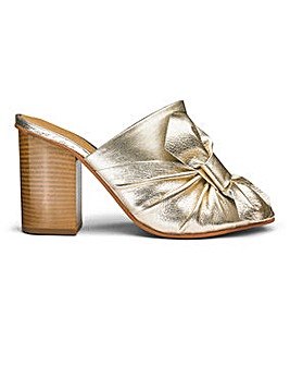 Sole Diva Leather Bow Detail Mule E Fit
