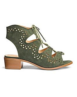 Sole Diva Ghillie Tie Sandals E Fit