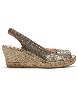 DF By Daniel Shimmer Wedge Espadrilles