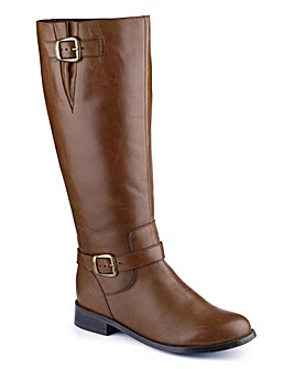 Sole Diva Buckle Boot Curvy Plus EEE Fit
