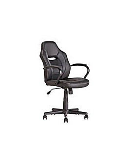 Mid Back Office Gaming Chair - Black.