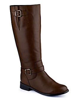 Sole Diva Buckle Boot Curvy Plus E
