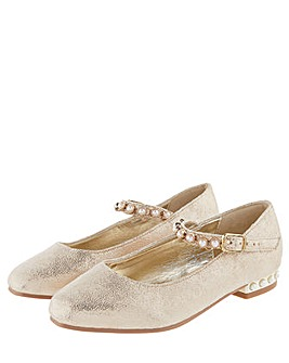 Monsoon Pearly heel and strap flats