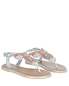 Monsoon Beaded metallic sandals
