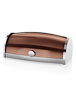 Swan Roll Top Bread Bin Copper