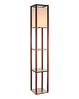 Wentworth Floor lamp with shelves