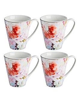 Blossom Set of 4 Mugs