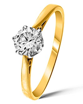 9 Carat Gold 1/2ct Diamond Ring